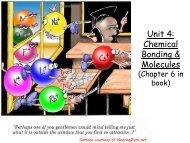 Unit 4: Chemical Bonding & Molecules