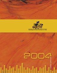 RTE 2004 Annual Report 2.indd - Rock the Earth
