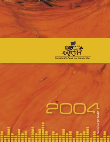 RTE 2004 Annual Report 2.indd - Rock the Earth