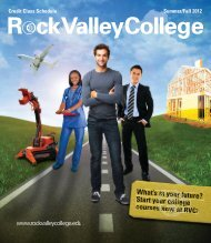 Credit Class Schedule Summer/Fall 2012 - Rock Valley College