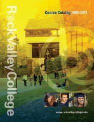 Course Catalog 2009-2011 - Rock Valley College