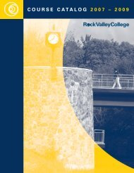 COURSE CATALOG 2007 – 2009 - Rock Valley College