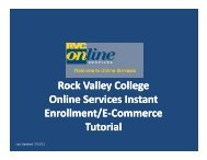 Online Services Tutorial - Rock Valley College