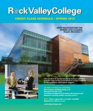 CREDIT CLASS SCHEDULE • SPRING 2012 - Rock Valley College