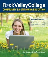 COMMUNITY & CONTINUING EDUCATION - Rock Valley College
