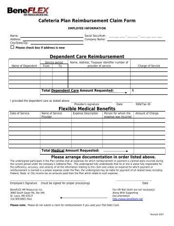Flex UMR Claim Form