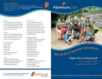 Summer Brochure - Rockwood School District