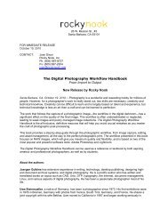The Digital Photography Workflow Handbook From ... - Rocky Nook