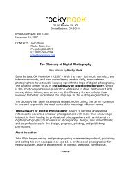 The Glossary of Digital Photography - Rocky Nook