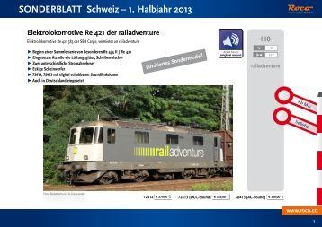SONDERBLATT Schweiz – 1. Halbjahr 2013 - Roco