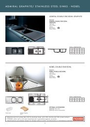 stainless steel sinks - Roco