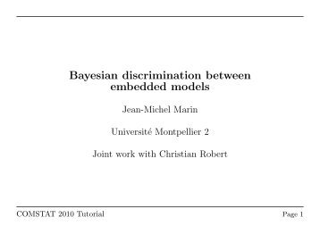 Bayesian discrimination between embedded models
