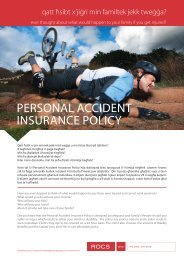 Personal accident insUrance PolicY - ROCS group