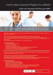 MSI HEALTH INSURANCE POLICY - ROCS group