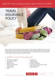 TRAVEL INSURANCE POLICY - ROCS group
