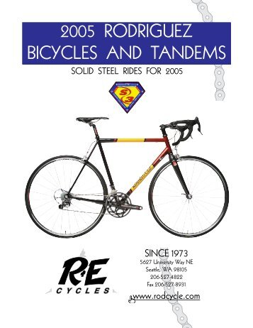 2005 RODRIGUEZ BICYCLES AND TANDEMS - R+E Cycles