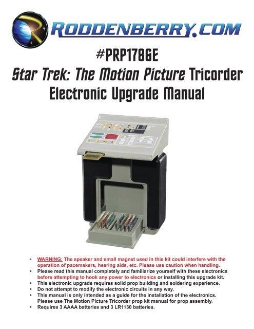 Star Trek: The Motion Picture Tricorder - Roddenberry com