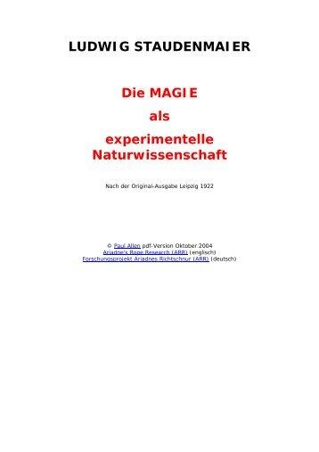 Die Magie als experimentelle Naturwissenschaft - Rodiehr