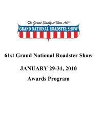 2010 Grand National Roadster Show Awards - RodShows.com