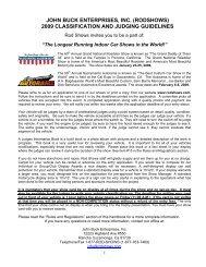 JOHN BUCK ENTERPRISES, INC - RodShows.com