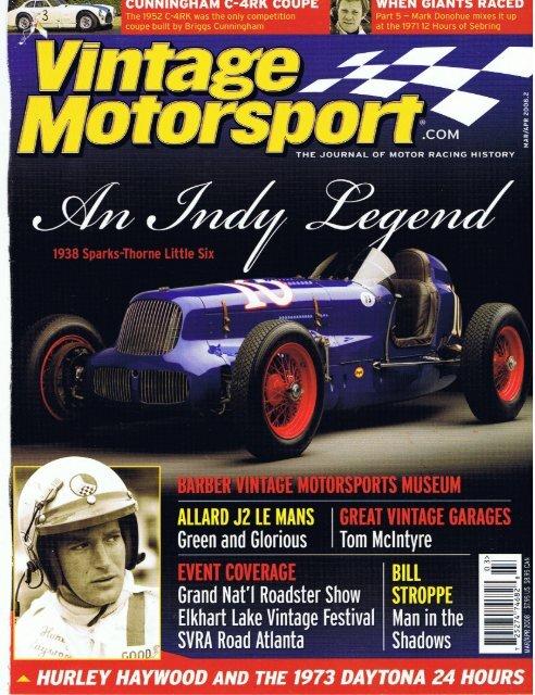 Vintage Motorsport March_April 2008.pdf - RodShows.com