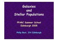 Galaxies and Stellar Populations