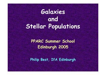 Galaxies and Stellar Populations