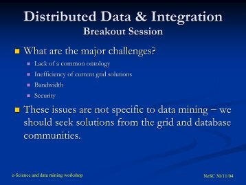 Distributed Data & Integration