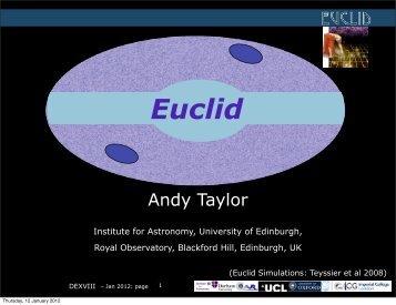 Euclid - The Royal Observatory, Edinburgh