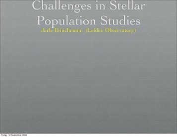 Future challenges in Stellar Population Studies