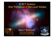 E-ELT Science Star Formation in the Local Volume