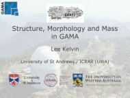 Structure, Morphology and Mass in GAMA