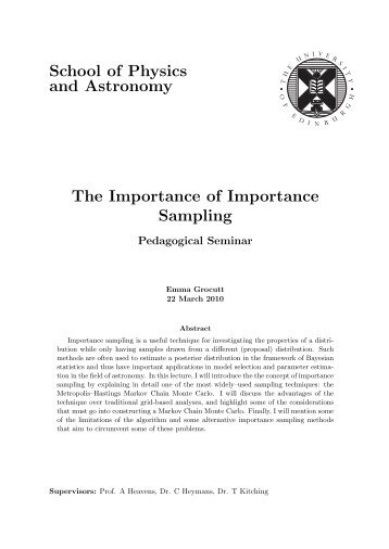 The importance of importance sampling