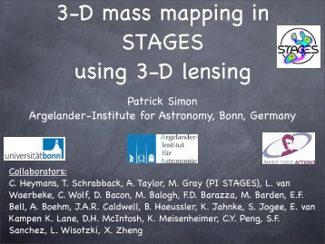 Patrick Simon Argelander-Institute for Astronomy, Bonn, Germany