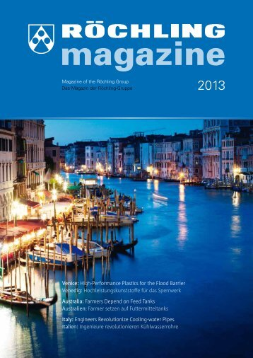 Venice: High-Performance Plastics for the Flood Barrier Venedig ...