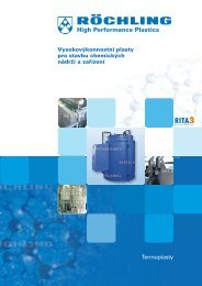 Vysokovýkonnostní plasty pro stavbu chemických nádrží a zařízení