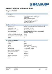 Product handling Polystone M-Slide - Röchling Engineering Plastics