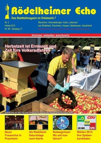 Wahlen 2013 - Rödelheimer Echo
