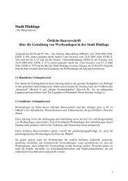 Gestaltungssatzung Werbeanlagen.pdf - Stadt Dinklage