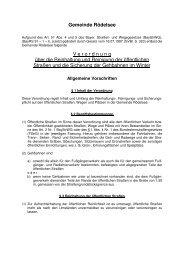 Verordnung über Reinhaltung und Reinigung ... - Rödelsee