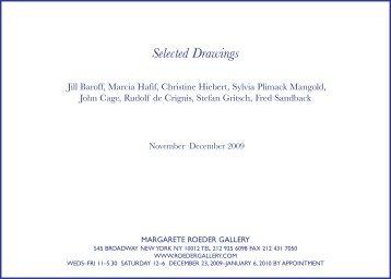 Selected Drawings - Margarete Roeder Gallery