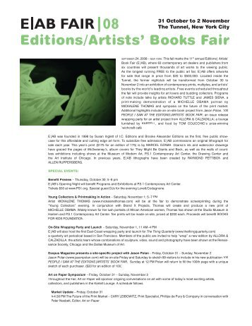 Editions/Artists' Books Fair - Margarete Roeder Gallery