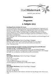 Frauenbüro Programm 2. Halbjahr 2013 - Stadt Rödermark