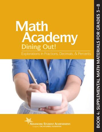 Math Academy – Dining Out! - The Actuarial Foundation
