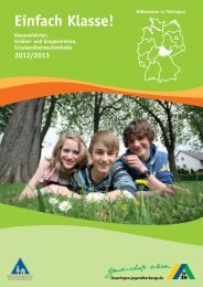 Preis - Jugendherbergen in Thüringen