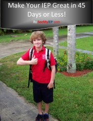 Make Your IEP Great in 45 Days or Less! - Dr. Jim Forgan, Licensed ...