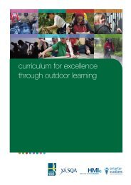 curriculum for excellence through outdoor learning - Institute for ...