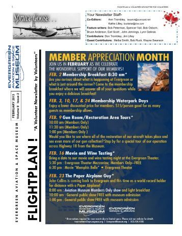 February Volunteer Newsletter 2013 - Evergreen Aviation & Space ...