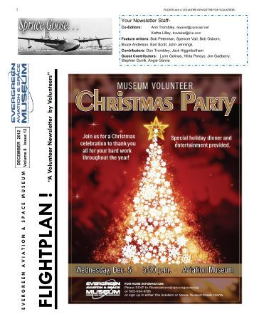 December Volunteer Newsletter 2012 - Evergreen Aviation & Space ...