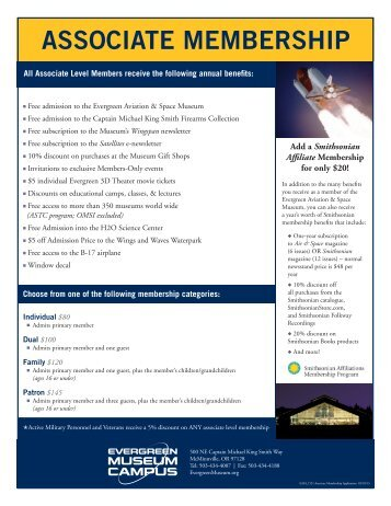 Join Now - Evergreen Aviation & Space Museum